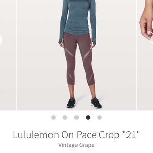 Lululemon On Pace Crop Legging